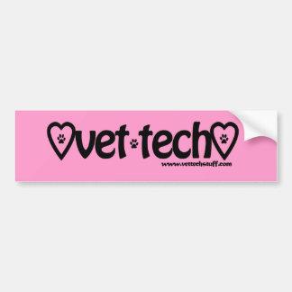 pink vet tech bumper sticker