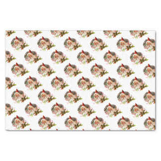 Pink Victorian Santa Claus Tissue Paper