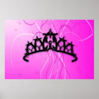 Pink Viking Princess Crown Poster
