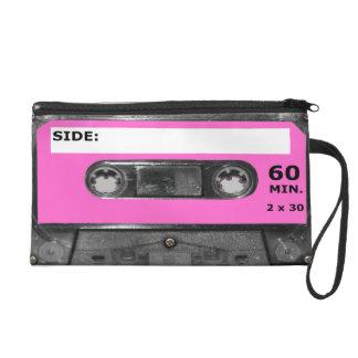 Pink Vintage 80s Cassette Wristlet