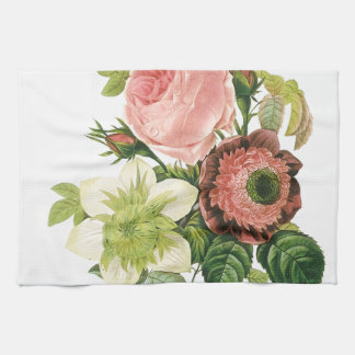 Pink Vintage Bouquet Tea Towel