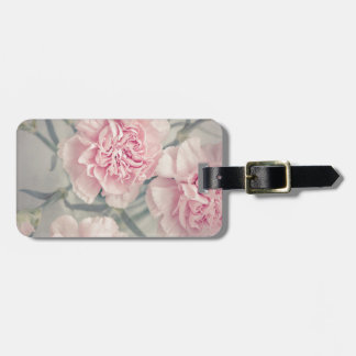 Pink Vintage Carnations Bag Tag