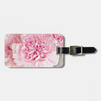 Pink Vintage Carnations Luggage Tag