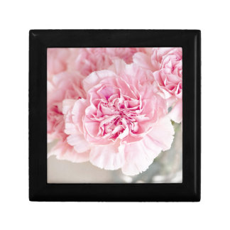 Pink Vintage Carnations Small Square Gift Box