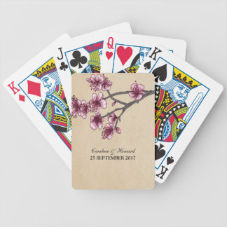 Pink Vintage Cherry Blossoms Cards