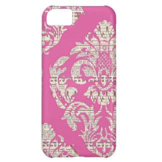 Pink Vintage Damask iPhone 5 Case