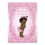 Pink Vintage Ethnic Princess Baby Shower 13 Cm X 18 Cm Invitation Card