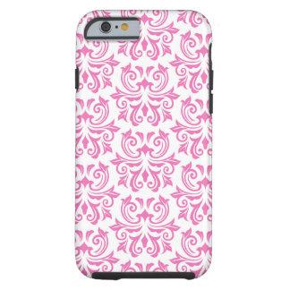 Pink vintage floral damask pattern iPhone 6 case Tough iPhone 6 Case