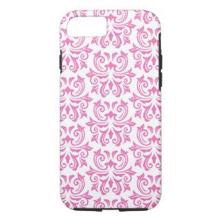 Pink vintage floral damask pattern iPhone 7 case