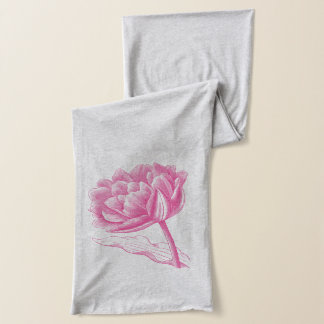 Pink Vintage Flower Scarf
