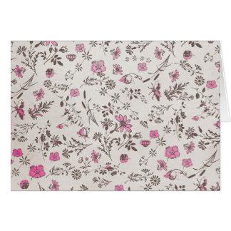 pink vintage flowers cards