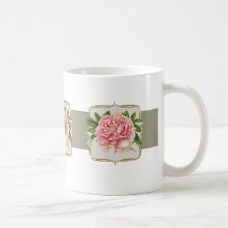 Pink Vintage Flowers Coffee Mug