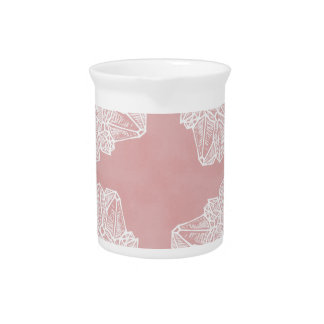 Pink Vintage Geode Pattern Beverage Pitchers