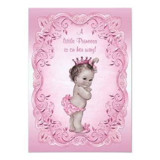 Pink Vintage Princess Baby Shower 13 Cm X 18 Cm Invitation Card