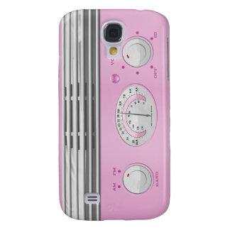 Pink Vintage Radio Samsung Galaxy S4 Case