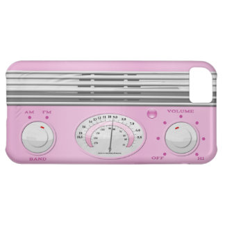 Pink Vintage Radio Cover For iPhone 5C