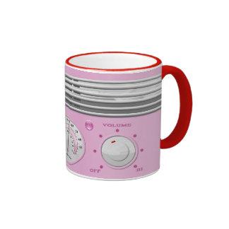 Pink Vintage Radio Coffee Mug