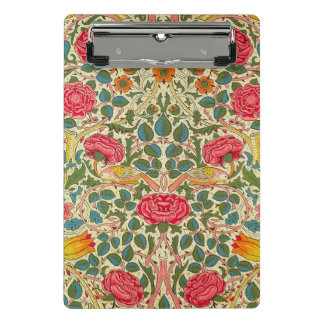 Pink Vintage Rose Chintz pattern Mini Clipboard