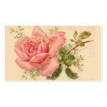 Pink Vintage Rose Feminine Business Card