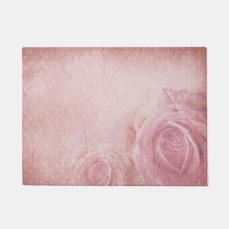 Pink Vintage Roses Doormat