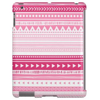 Pink Vintage Tribal Stripes Pattern