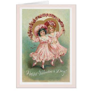 Pink Vintage Valentine's Day Friendship Card