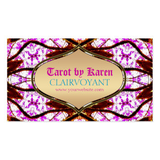 Pink Visionary Goddess Tarot Business Cards