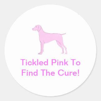 Pink Vizsla Round Sticker