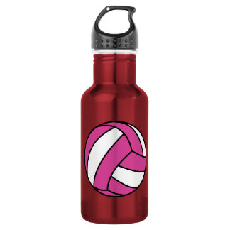 Pink Volleyball 532 Ml Water Bottle