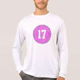 Pink Volleyball Men's Custom Long-Sleeve Shirt