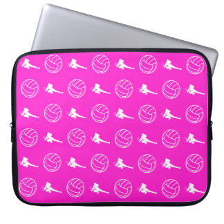 Pink Volleyball Pattern Laptop Sleeve
