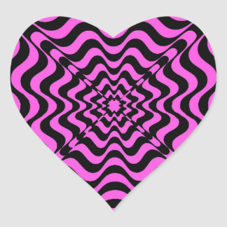 Pink Vortex Heart Sticker