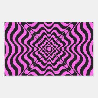 Pink Vortex Rectangular Sticker