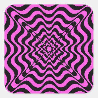 Pink Vortex Square Sticker