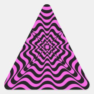 Pink Vortex Triangle Sticker