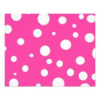 Pink w White Polka Dots Customizable Fashion 11.5 Cm X 14 Cm Flyer