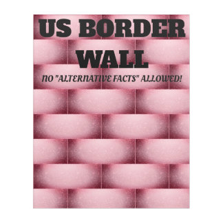 Pink Wall Of Resistance Acrylic Wall Art