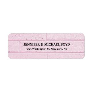 Pink Wall Retro Stylish Classical Family Return Address Label