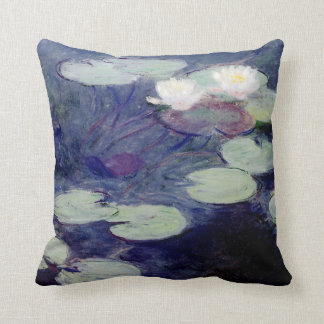 Pink Water-Lilies: 1897-99 by Monet Throw Pillow
