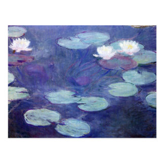 Pink Water Lilies by Claude Monet Postcard