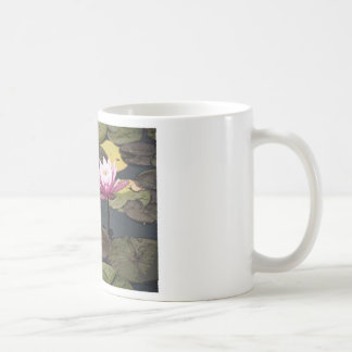 Pink Water Lily Drawing Coffee Mug