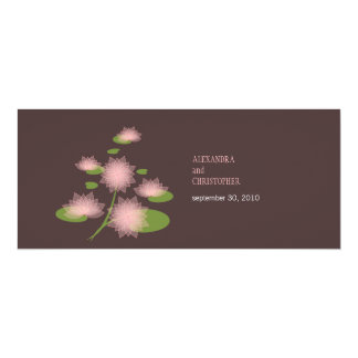 Pink Water Lily Elegant Simple Contemporary Weddin 4x9.25 Paper Invitation Card