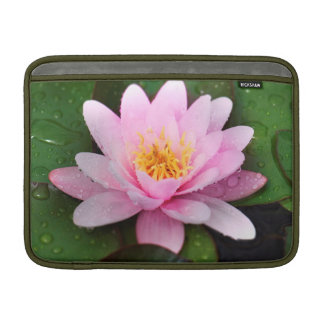 Pink Water Lily Floral Plant MacBook Air Sleeve