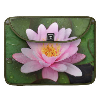 Pink Water Lily Floral Plant MacBook Pro Sleeves