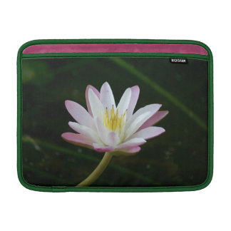 "Pink water lily flower, Photo 13"" MacBook Air Sleeves"