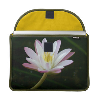"Pink water lily flower, Photo 13"" Sleeve For MacBooks"