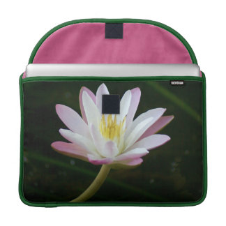 "Pink water lily flower, Photo 15"" MacBook Pro Sleeve"
