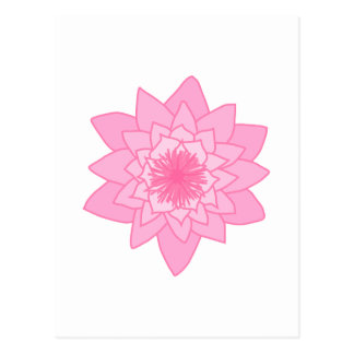 Pink Water Lily Flower. Post Cards