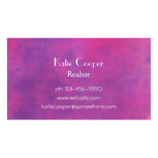 Pink Watercolor Abstract Texture Business Cards