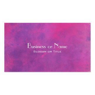 Pink Watercolor Abstract Texture Pack Of Standard Business Cards